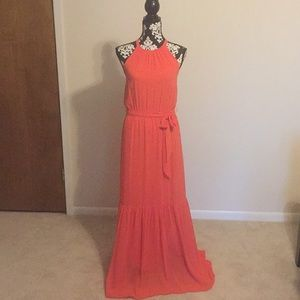 NWT Jessica Simpson coral Maxi dress size XS